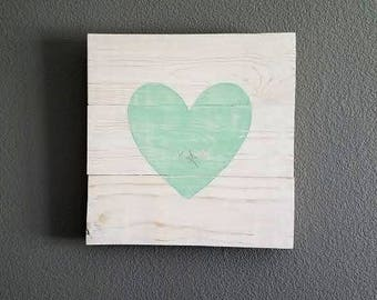 Heart Pallet Sign - Heart Sign - Rustic Nursery - Rustic Wedding - Farmhouse Decor - Farmhouse Sign - Rustic Nursery Sign