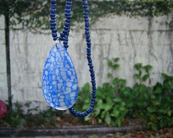 Dragon Veins Agate Necklace