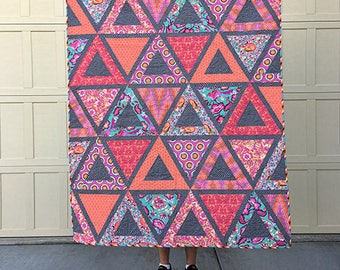 Sorbet Chopsticks Quilt Kit featuring Chipper by Tula Pink