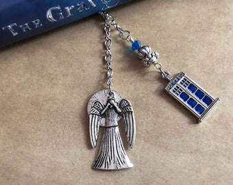 Doctor Who Don't Blink Weeping Angels Tardis Book Thong Bookmark