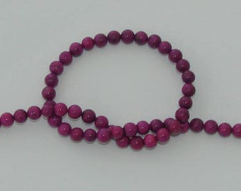 5 beads 6 mm natural howlite purple