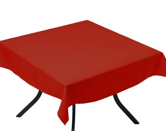 Tablecloth red chat