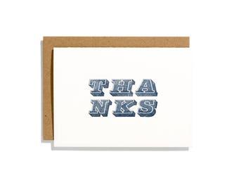 Thanks Block - Letterpress Congratulations Card - CT054