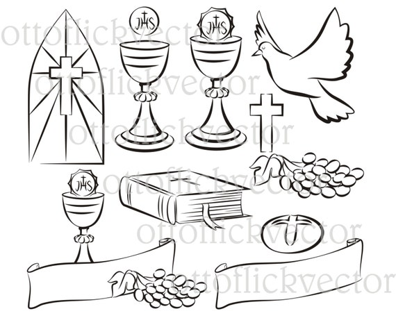 Holy Communion Vector Silhouettes Clipart Eps Ai Cdr Png Jpg
