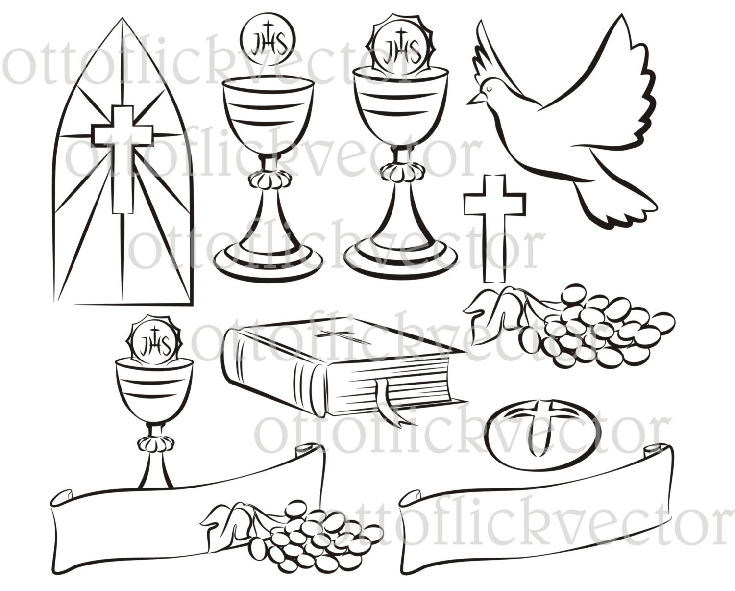Holy communion vector silhouettes clipart eps ai cdr png jpg this is a digital file buycottarizona Image collections