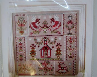 Cuore e Batticuore, Christmas in Quilt cross stitch pattern for Christmas.
