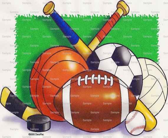 Sports Birthday - Edible Cake and Cupcake Topper For Birthday's and Parties! - D1127