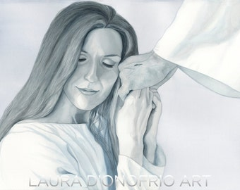 Familiar Grace - Watercolor Giclee Print, Christian artwork by Laura D'Onofrio