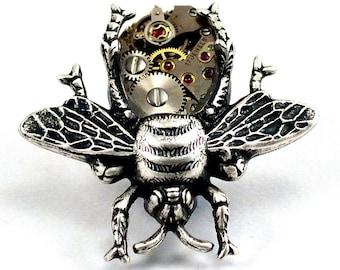 Steampunk Bee Pin, Bee Brooch, Bee Pin, Steampunk Bug