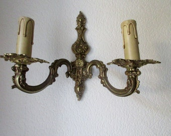 Beautiful Brass Sconce, Ornate Decoration, Wall Lighting, Vintage French
