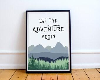 Let The Adventure Begin - Print