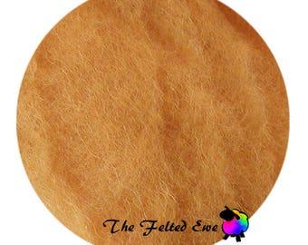 Needle Felting Wool Batt / DR84 Days of Old Gold Carded Wool Batt