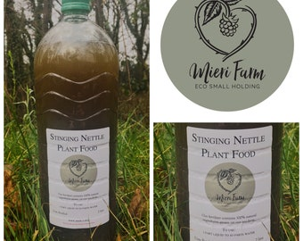 2L Plant Food Concentrate - Natural fertiliser  made from Nettles, Comfrey and Worm Pee