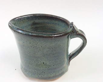HANDMADE  blue pitcher, ceramic, pottery, stoneware, syrup, ready to ship, make a great wedding gift   M17