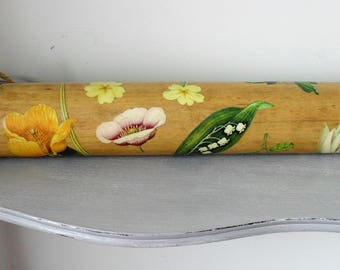 DECOUPAGE Vintage Wooden Rolling Pin Kitchenalia Rustic Wooden HANDMADE OOAK Country Kitchen Decor Farmhouse Style Wood Decor Rustic Wood