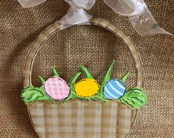 Easter basket tie on, personalized Easter basket ornament, Easter basket decor, Easter basket, easter decor
