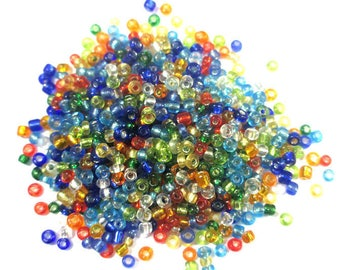 10 grams seed beads mix color (2) glass 2mm (about 800 beads)