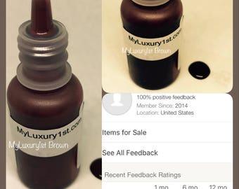 Chocolate Brown Color Cold Process Soap Making Liquid Colorant DIY lotion creams and lip pigment colour bath bomb coloring darker foundation