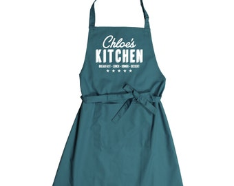 Personalised Kitchen Apron With Pocket - choice of colours!