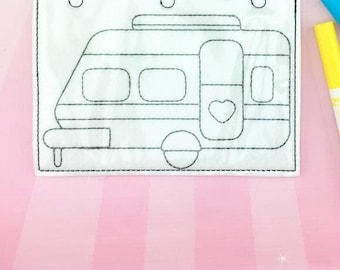 Camper Coloring Page