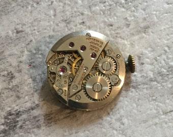 Round Watch Movement, Steampunk Supplies, Vintage Benrus Watch Movement Jewelry Lot, Watch Lot, Old Watch Parts, Watch Repair