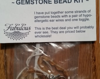 Bead Kit Hessonite oval faceted