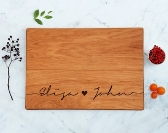 Personalized Cutting Board, Custom Wood Cutting Board, Engraved Wedding Gift, Engagement Gift For Couple, Unique Bridal Shower, His and Hers