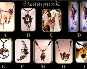 Steampunk fashion - steampunk lover - girlfriend gift - steampunk jewelry -  Steam punk - Clock jewelry, gears jewelry,Steampunk earrings,
