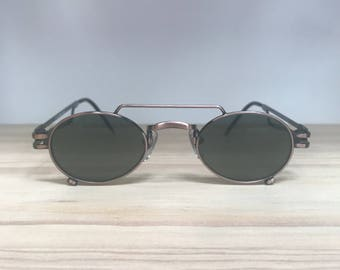 Oval copper vintage sunglasses for narrow face