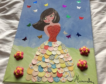 Butterfly Princess painting