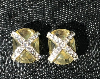 Beautiful earrings clip Vintage SONIA RYKIEL Paris