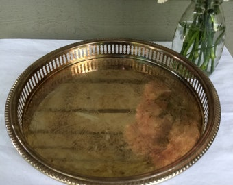 Vintage Round Galley Serving Tray