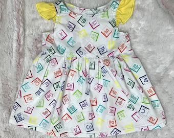 Science girl, toddler dress, little girl dress, stem, science gift.