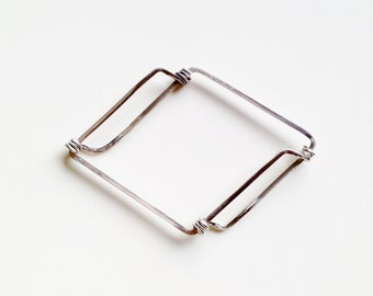 Geometrical Sterling Silver Bracelet. For him. For her. Original and Modern. Minimalist. Free Shipping.