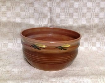 Ceramic BOWL Vintage Bowl Brown Colored Glaze Table Serving Latvia Handmade Pottery Fruit Bowl for Gift Ceramic Fruit Bowl Table Centerpiece
