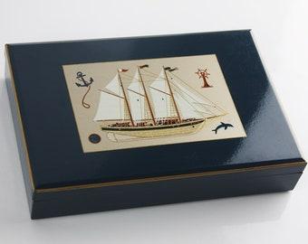 Nautical jewelry box Etsy