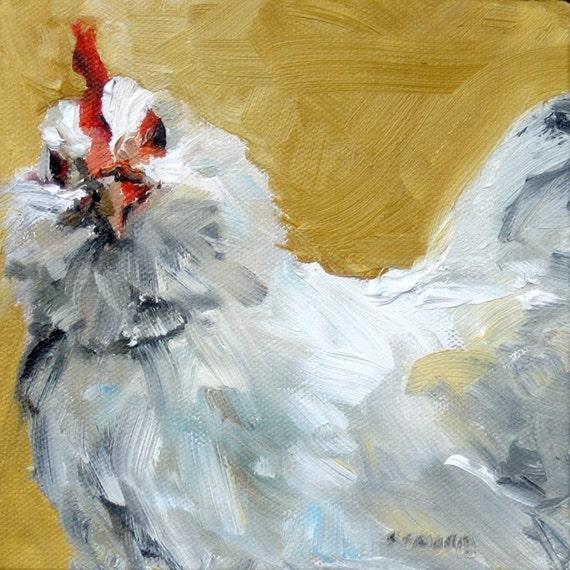 Chicken Print Chicken Painting Farm Animal Art Chicken Wall