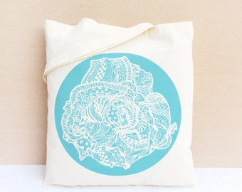 Tote Bag / Shopping bag / Organic Cotton Bag - La vie en Rose II
