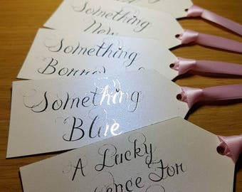 Something old, something new something borrowed, something blue and lucky sixpence