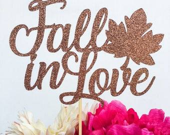 Fall in love cake topper | Fall in love | Fall cake topper | Engagement cake topper | Engagement decor | Engagement party