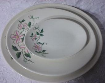 Vintage Knowles Serving Platters, Set of 3