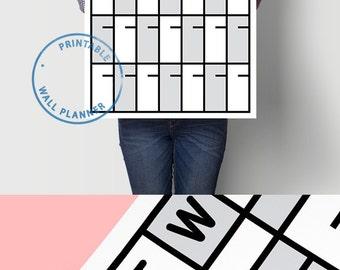 Weekly Planner Daily Planner Weekly Wall Planner Planner Printable Planner Download Calendar Planner Printable Planner Calendar and Planner