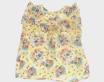 1980s shirt / vintage 80s blouse / extra small / Strawberry Shortcake Blouse