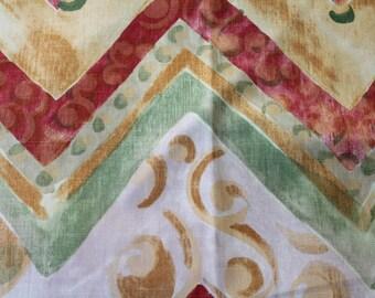 Vintage fabric, URGE MAKALU, brick Rose, 73, ethnic fabric, 53 x 57 cm, 338