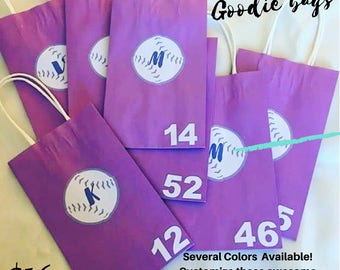 Softball - Baseball Team Favor Bags