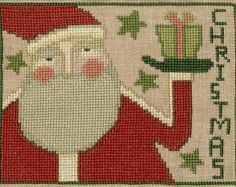 TERESA KOGUT Prim Santa counted cross stitch patterns folk art Winter Christmas Claus prims primitive