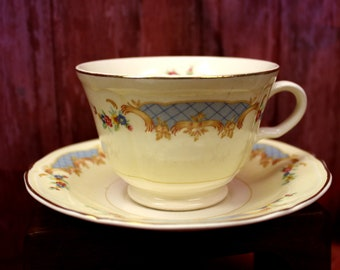 Vintage Tea Cup with Matching Saucer