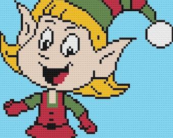 Gnome Girl Afghan C2C Crochet Pattern, Written Row by Row Counts, C2C Graphs, Corner to Corner Crochet Pattern, Graphgan, Christmas C2C