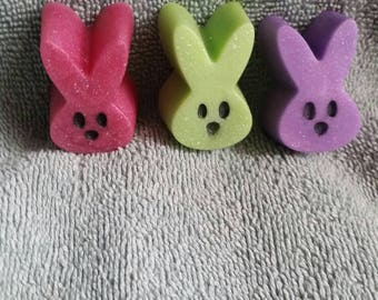 Bunny Soaps - Bunnies, Kids Soaps, Spring Soaps, bunny faces, decorative soaps, Basket fillers, Easter,Baby Shower Favors, Party Favors