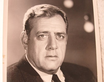 "Photo Release of Raymond Burr Star of Ironside 7""x 8"""